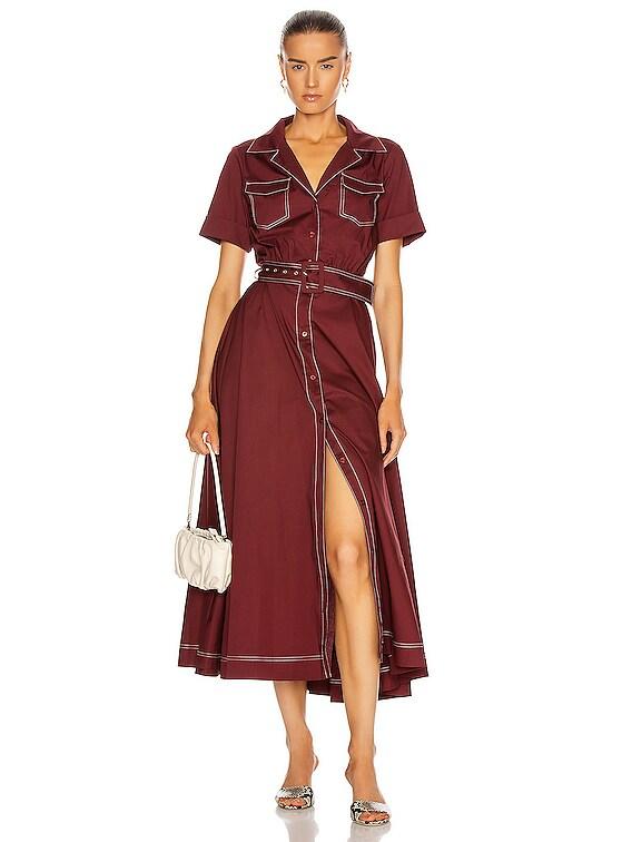 Millie Dress in Bordeaux