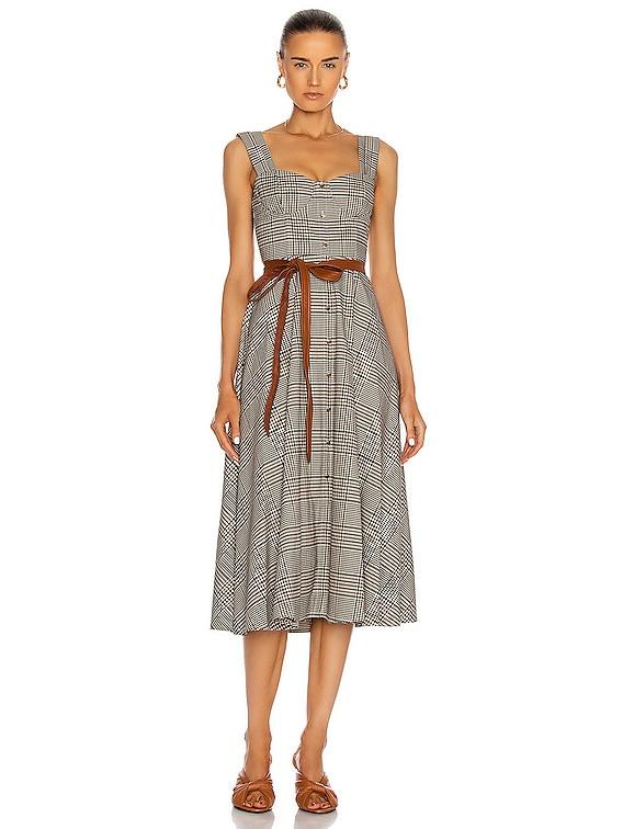 Inda Dress in Glen Plaid