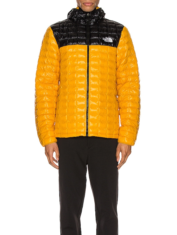 Thermoball Eco Hoodie in Summit Gold & TNF Black
