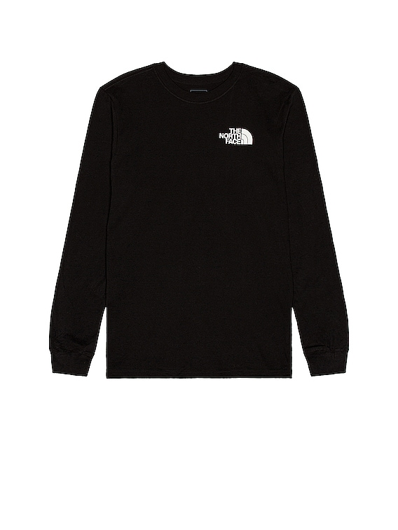 Long Sleeve Box NSE Tee in TNF Black
