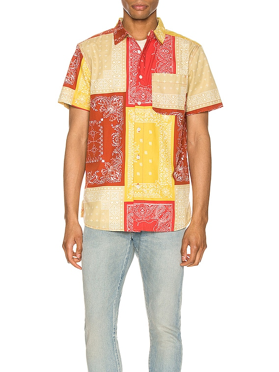 Short Sleeve Baytrail Pattern Shirt in Sunbaked Red Bandana Renewal Multi Print