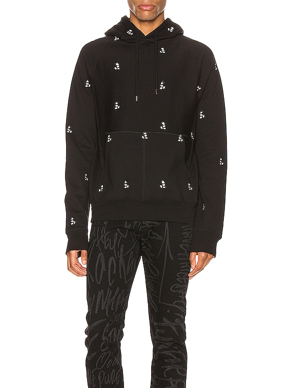 Mickey Mouse Embroidered Hoodie in Black 7 Monotone