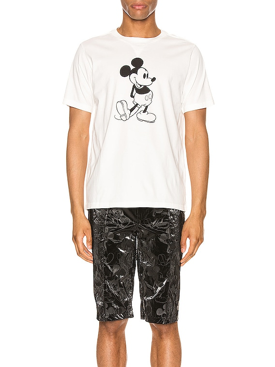 Mickey Mouse Tee in White & Monotone