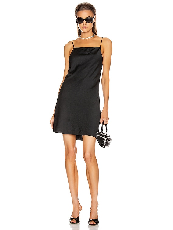 Light Wash & Go Mini Cami Dress in Black