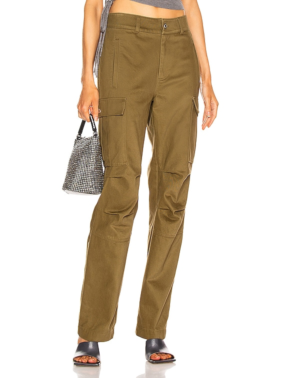 Twill Cargo Pant in Olive