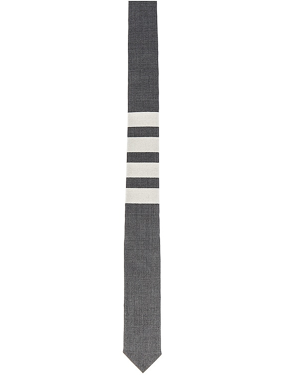 Classic 4 Bar Tie in Medium Grey