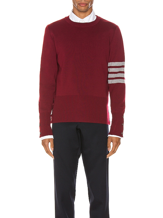 Crewneck Pullover in Red