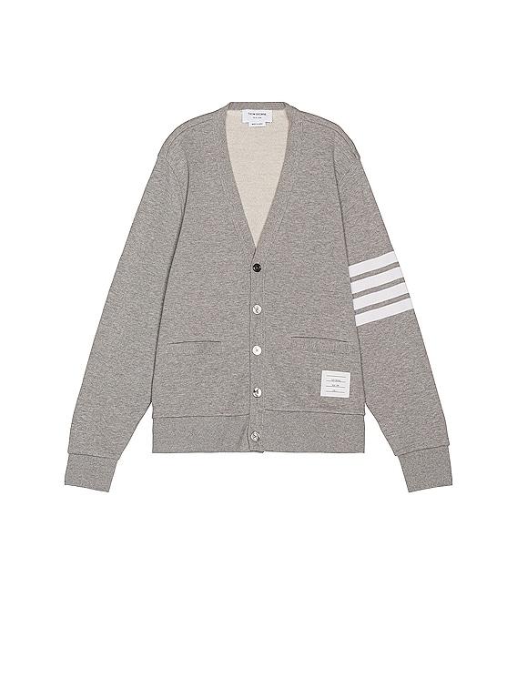 V Neck Cardigan in Light Grey