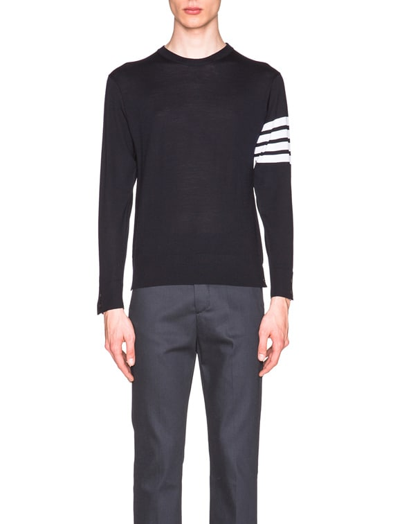 Classic Merino Crewneck Sweater in Navy
