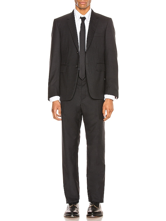 Classic Wool Suit in Charcoal