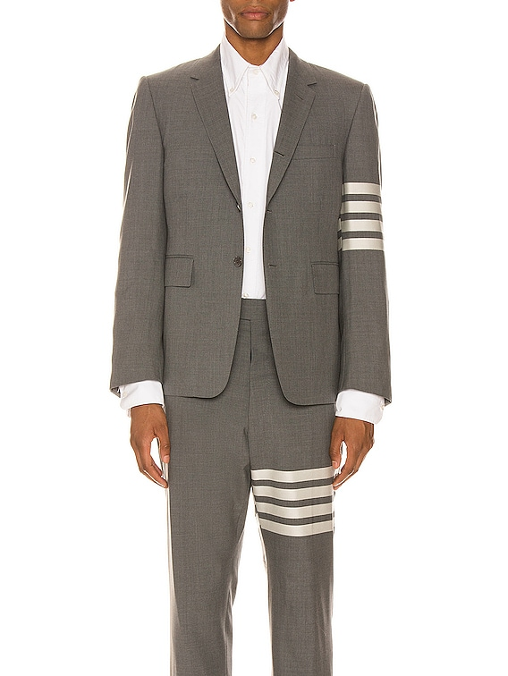 4 Bar Engineered Suit Jacket in Medium Grey