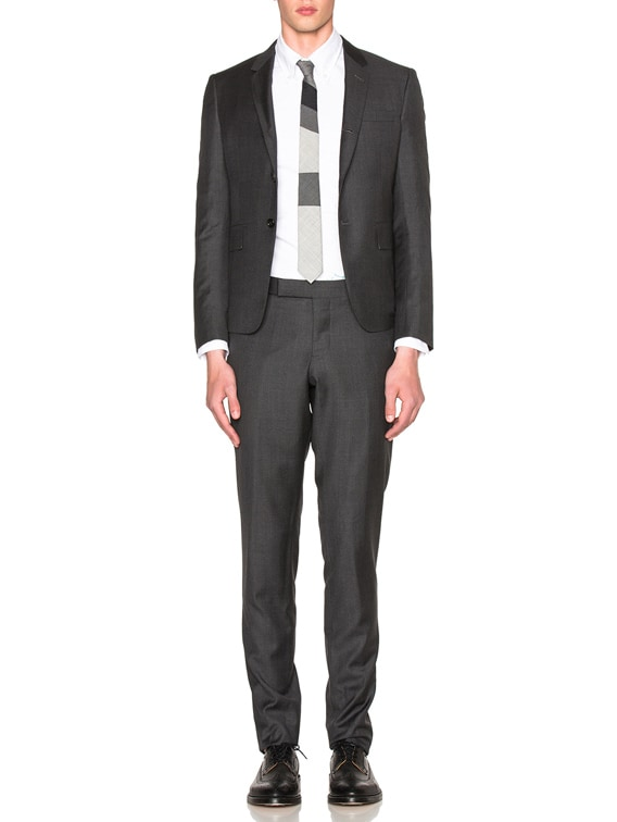 High Armhole Twill Suit in Dark Grey