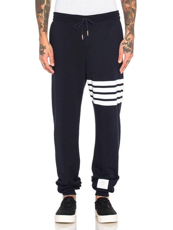 Cotton Sweatpants in Navy