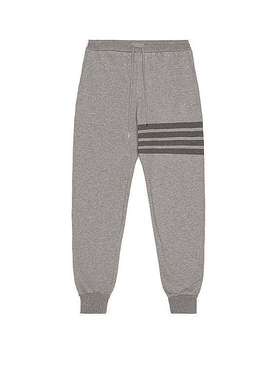 4 Bar Loopback Sweatpants in Medium Grey