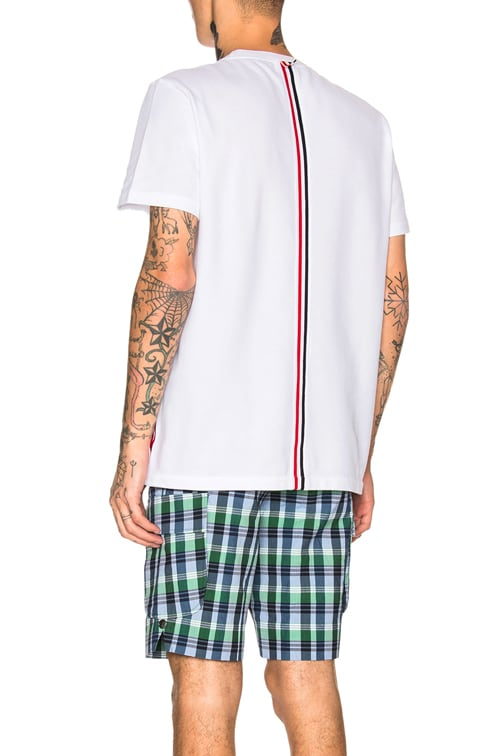 Pique Classic Short Sleeve Tee in White