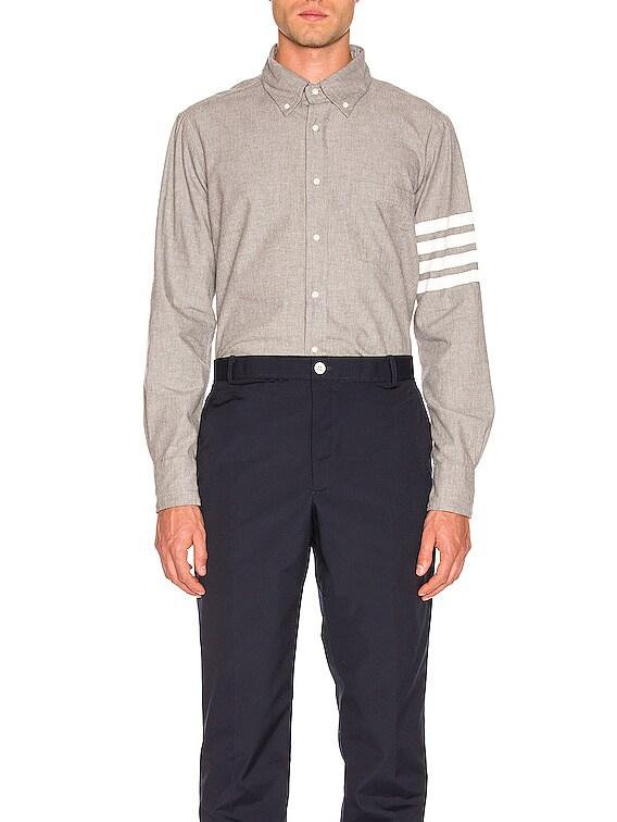 4 Bar Chambray Shirt in Medium Grey