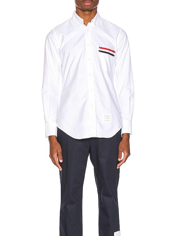 Pocket Collar Button Down Shirt in White