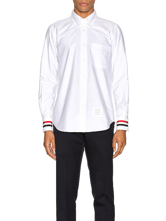 Classic Point Collar Button Up Shirt in White