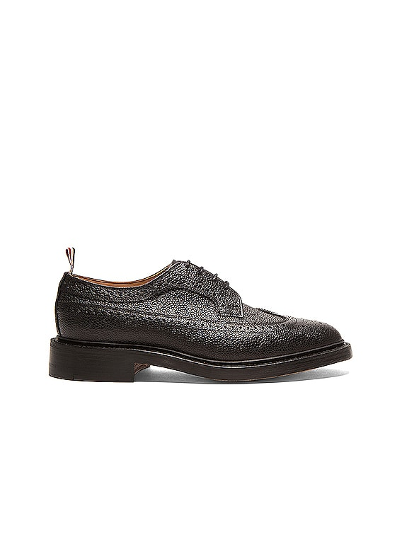 Classic Long Leather Wingtips in Black