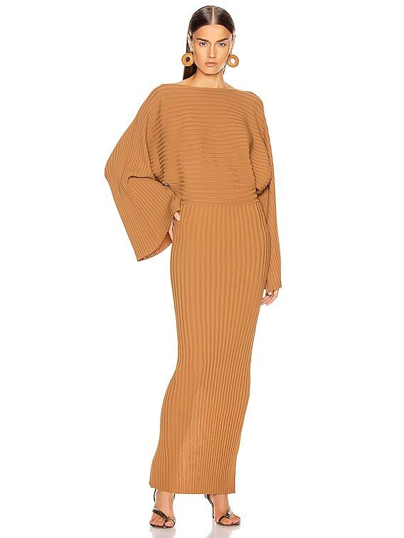 Maristella Dress in Brick