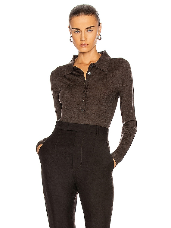 Millana Sweater in Dark Brown Melange