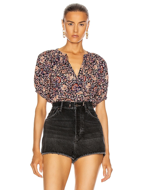 Evie Blouse in Midnight Floral