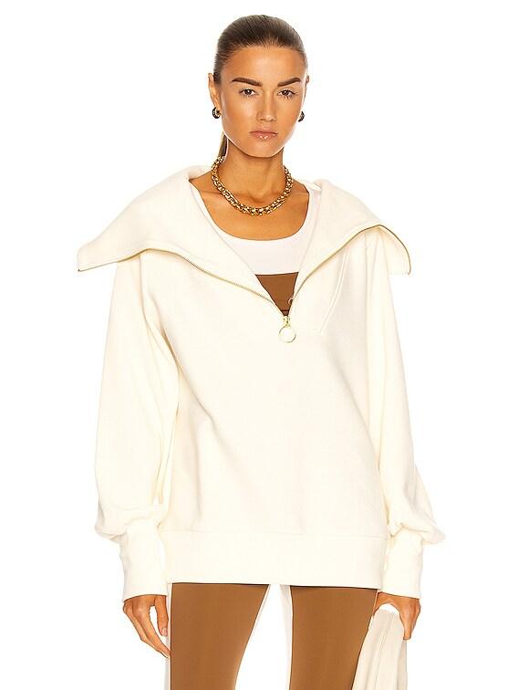 Vine Half Zip Sweatshirt in Ivory