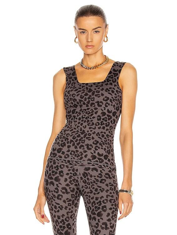Aletta Vest Top in Iron Grey Cheetah