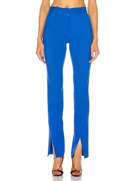 Front Split Trouser in Cobalt