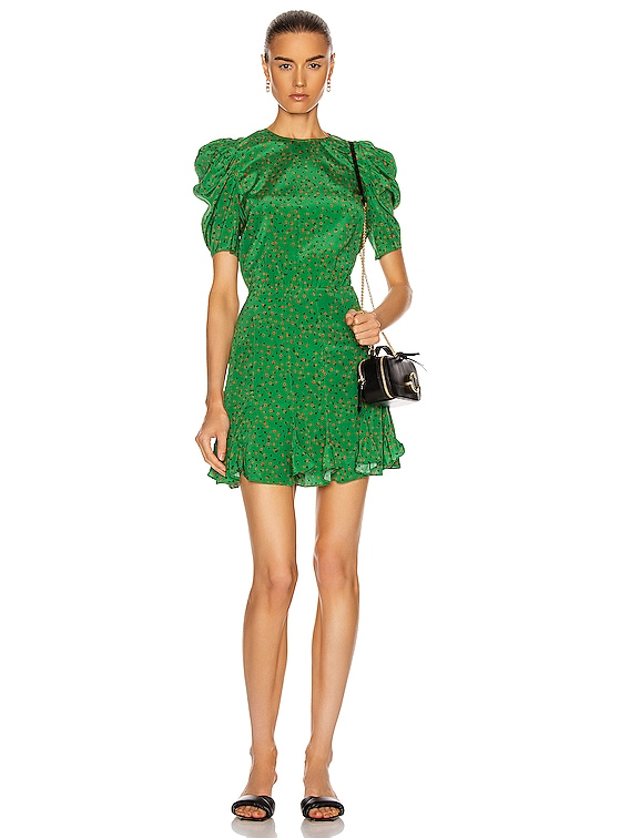 Lila Dress in Green Multi
