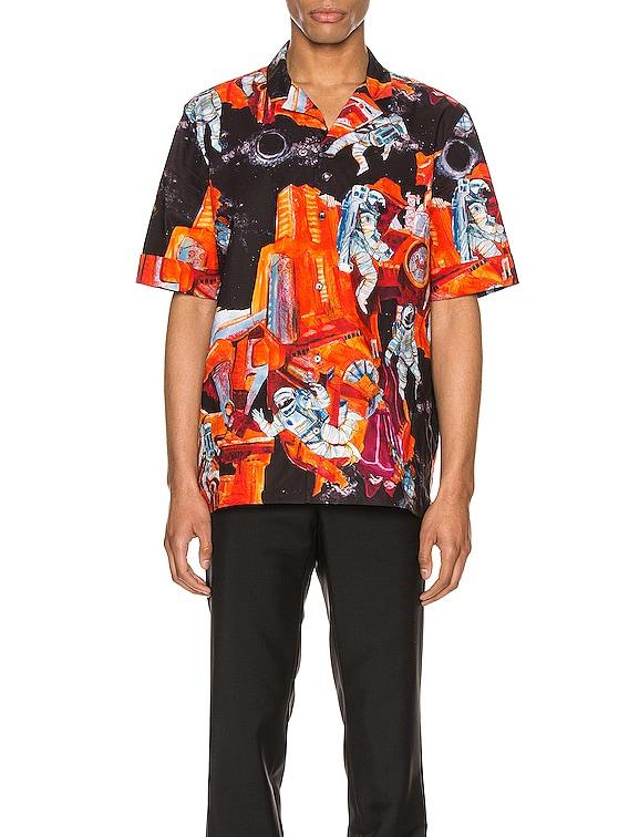 Short Sleeve Shirt in St. Infinite City Orange