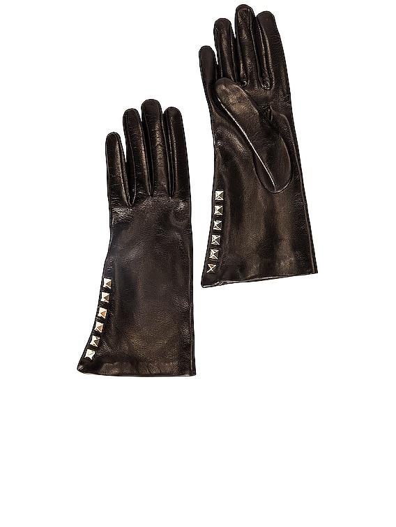 VLogo Gloves in Nero