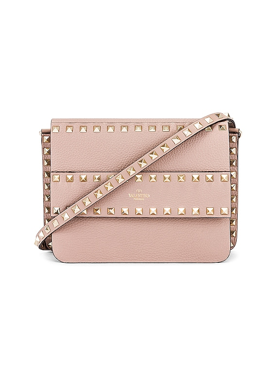 Small Rockstud Shoulder Bag in Poudre