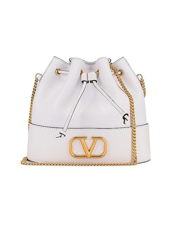 Vlogo Pouch Bag in Bianco Ottico