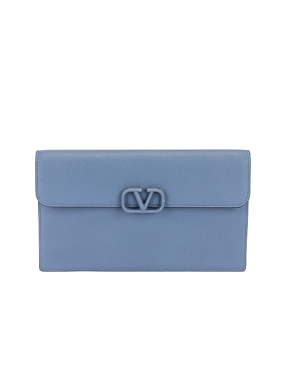 Large Flat Pouch in Blue
