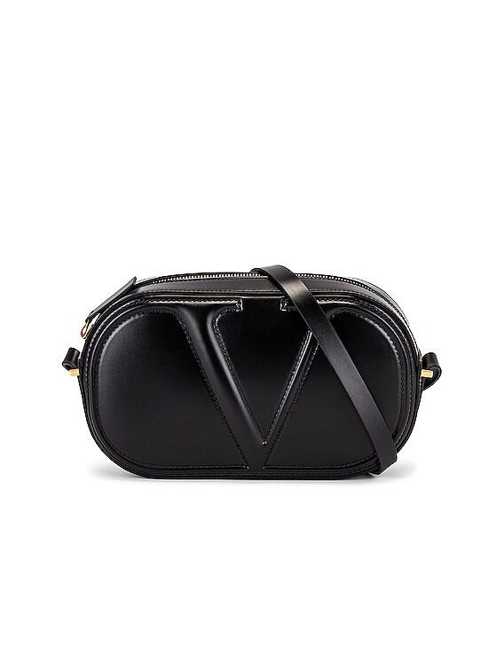 V Crossbody Bag in Black
