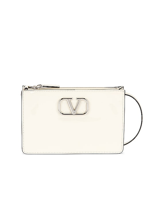 Pouch Shoulder Bag in Light Ivory
