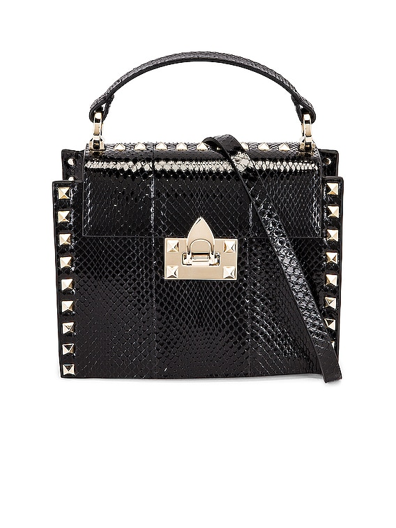 Small Top Handle Bag in Nero