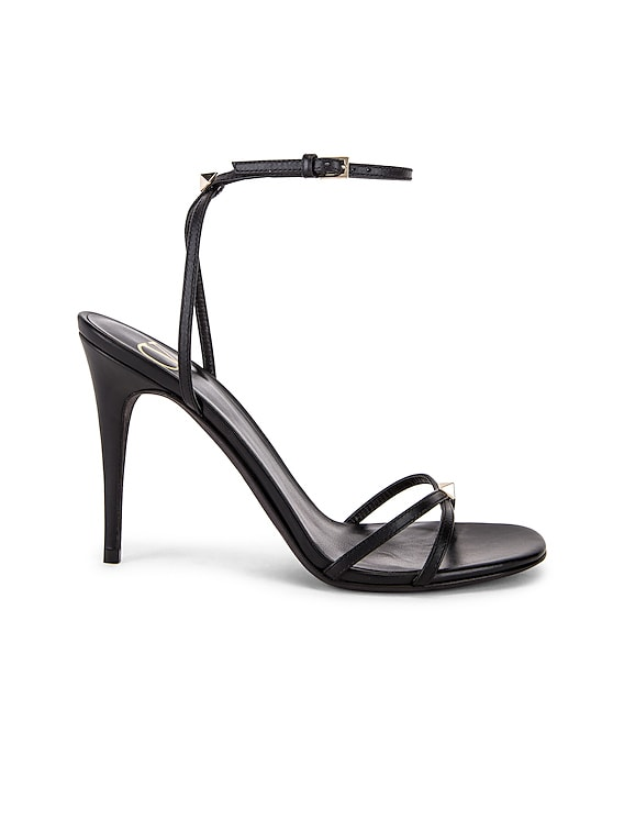 Strappy Heel in Nero