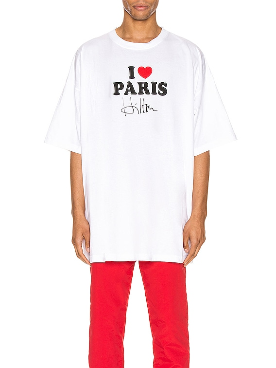 I Love Paris Tee in White