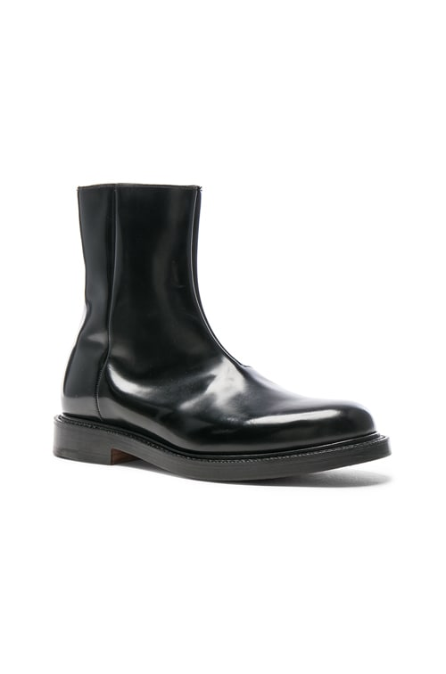 x Church's Logo Leather Ankle Boots in Black