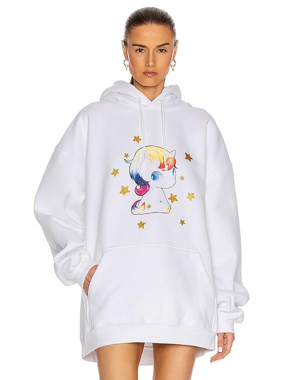 Heartbreaker Unicorn Hoodie in White