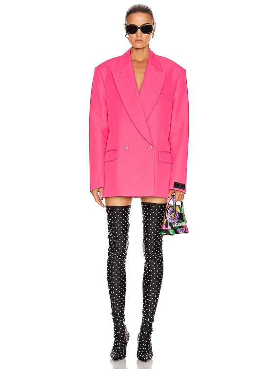 Tailored Jacket in Fluo Pink