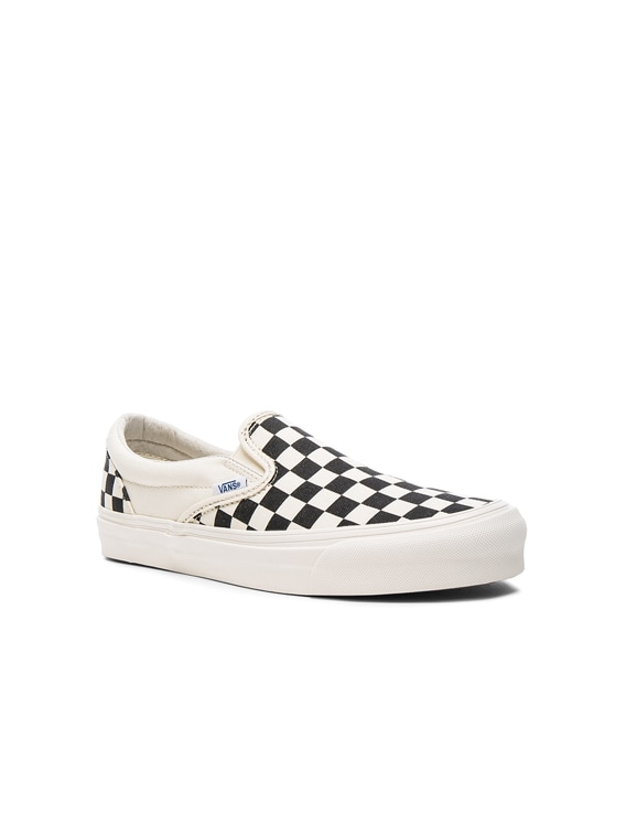 fc750b1dcb2 Item Added To Bag. Vans Vault. OG Classic Canvas Slip On LX in Black    White Checkerboard