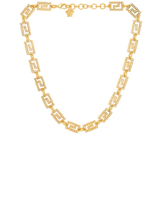 Necklace in Crystal & Hot Gold
