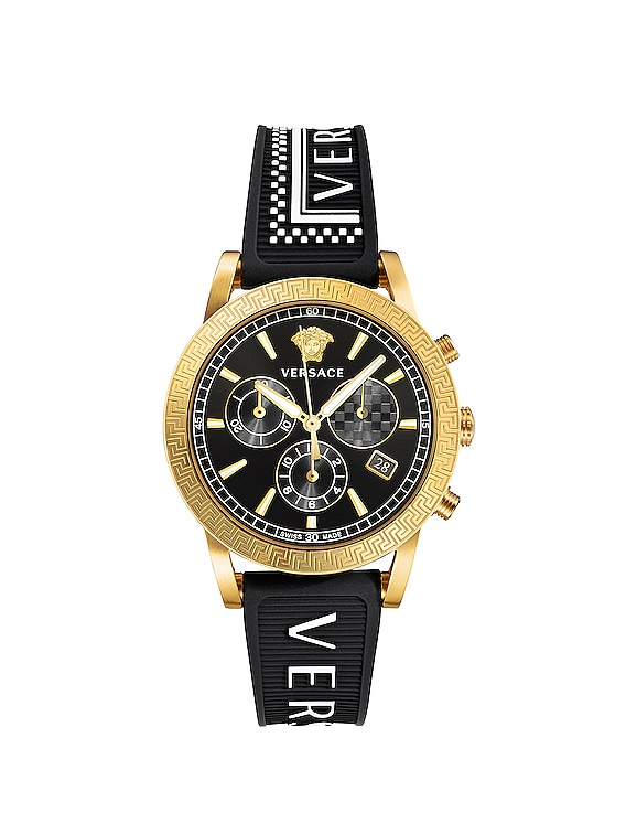 Sport Tech 40mm in IP Yellow Gold & Black Dial