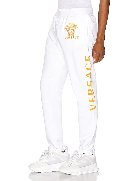 Pants in White & Gold