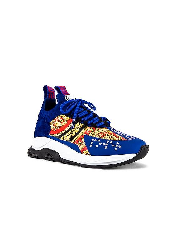 Sport Sneaker in Blue & Multi