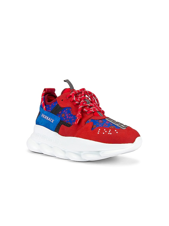Sport Sneaker in Red & Multi