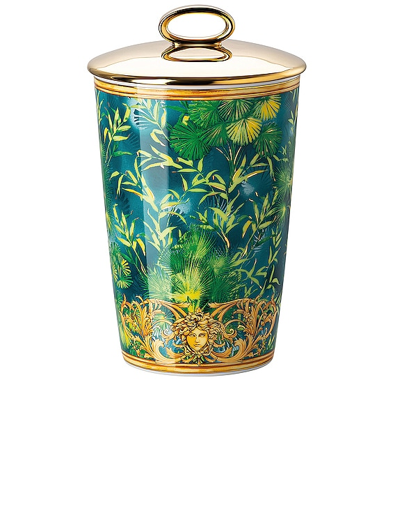 Jungle Votive with Lid & Fragrance in Green